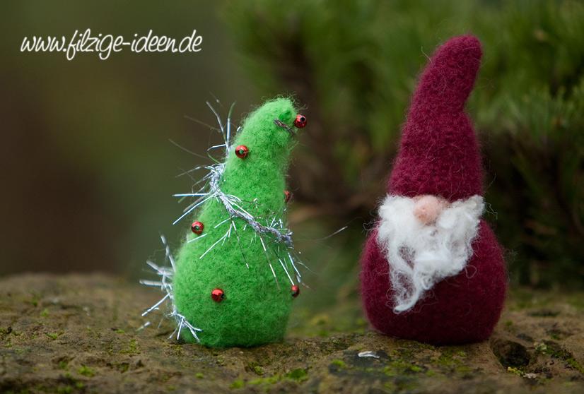 Weihnachtswichtel und Weihnachtsbaum