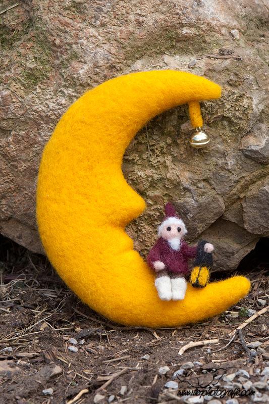 Mond mit Sandmännchen