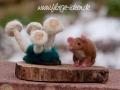 Maus mit Pilzen